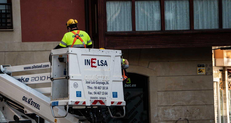 Mantenimiento del alumbrado público del ayuntamiento de Santurtzi